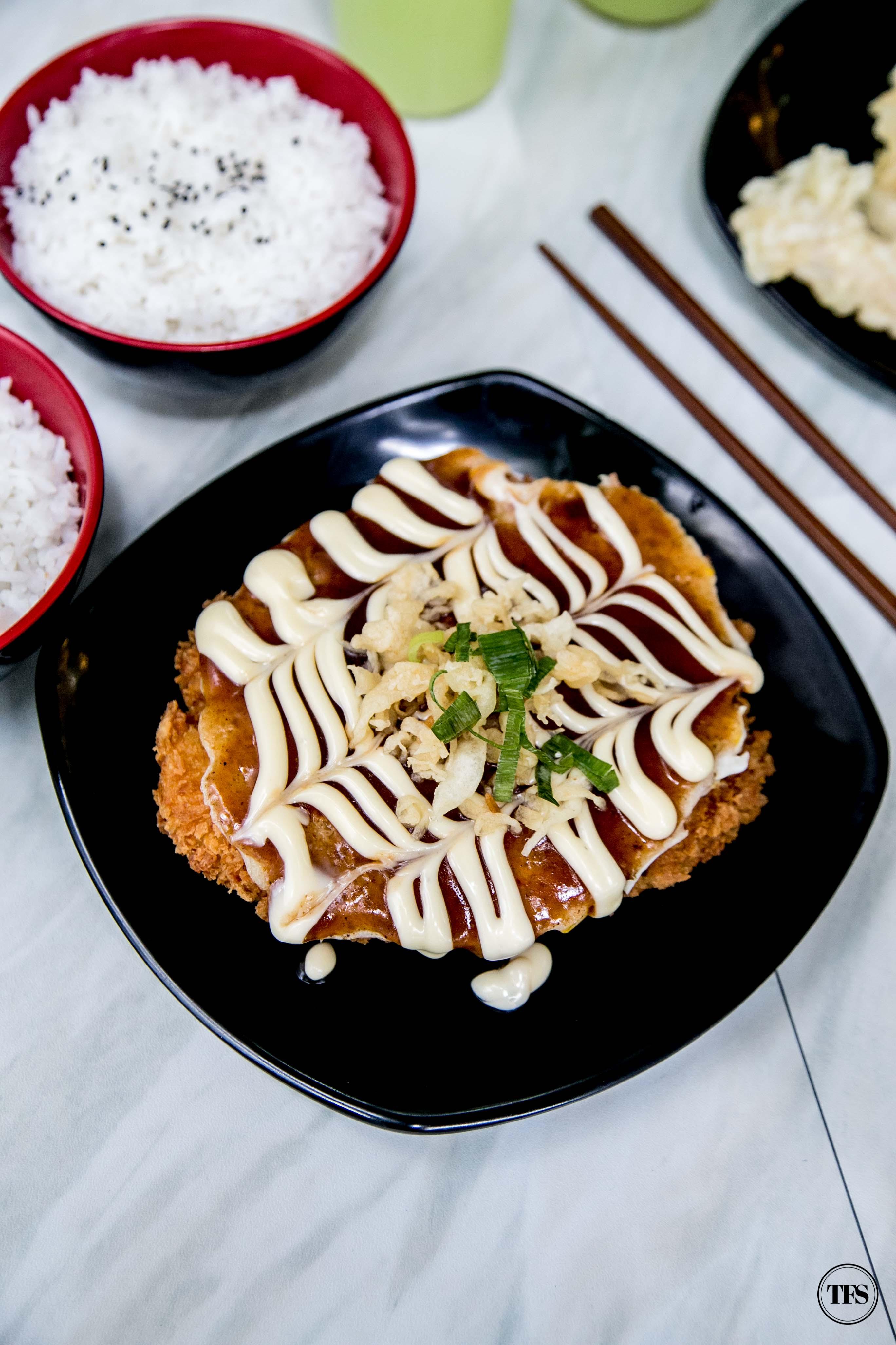 tokyo tokyo chicken katsu okonomiyaki