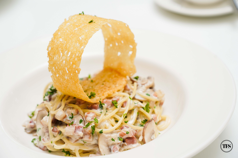 pancetta mushroom pasta girasol tagaytay